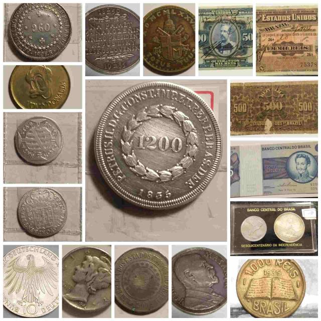 19º - LEILÃO Numismart - Cédulas, Moedas, Medalhas entre outras