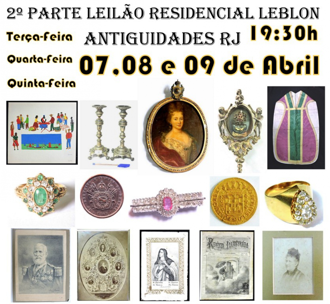 2º PARTE LEILÃO RESIDENCIAL LEBLON ANTIGUIDADES RJ