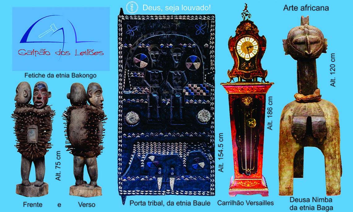 LEILÃO DE ARTE, CURIOSIDADES e DECORAÇÃO (destaque p/ Colecionismo, e Tribal Africana), 21 e 23/3/20