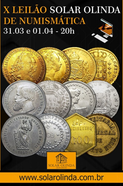 10º Leilão SOLAR OLINDA de Numismática e Antiguidades