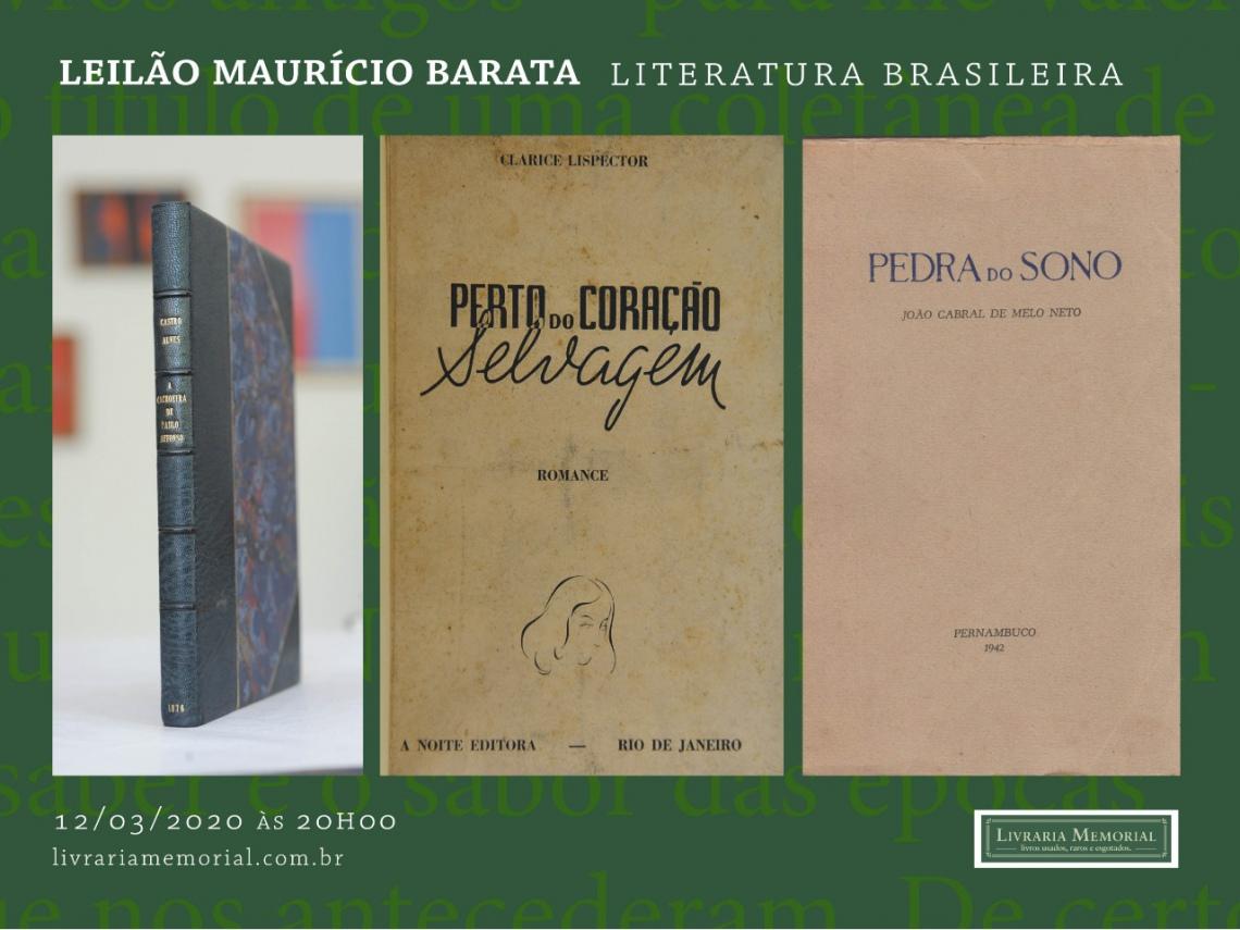 LEILÃO DA BIBLIOTECA DE MAURICIO BARATA- LITERATURA BRASILEIRA
