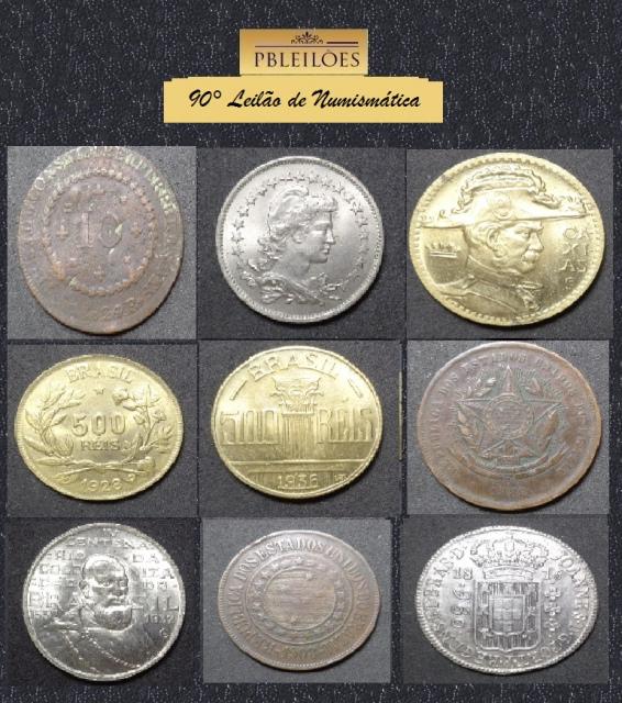 90º Leilão de Numismática Pbleilões