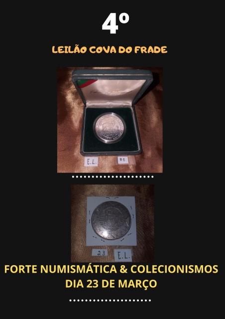 LEILÃO COVA DO FRADE-FORTE NUMISMÁTICA E COLECIONISMO