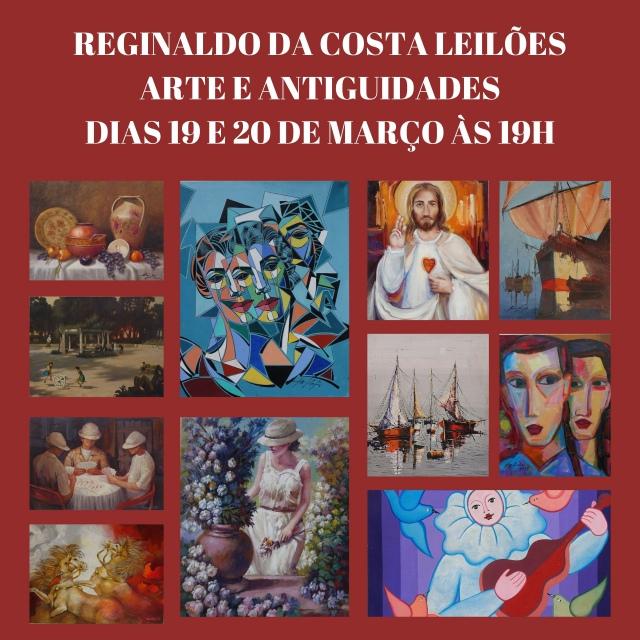 LEILÃO REGINALDO DA COSTA ARTE E ANTIGUIDADES