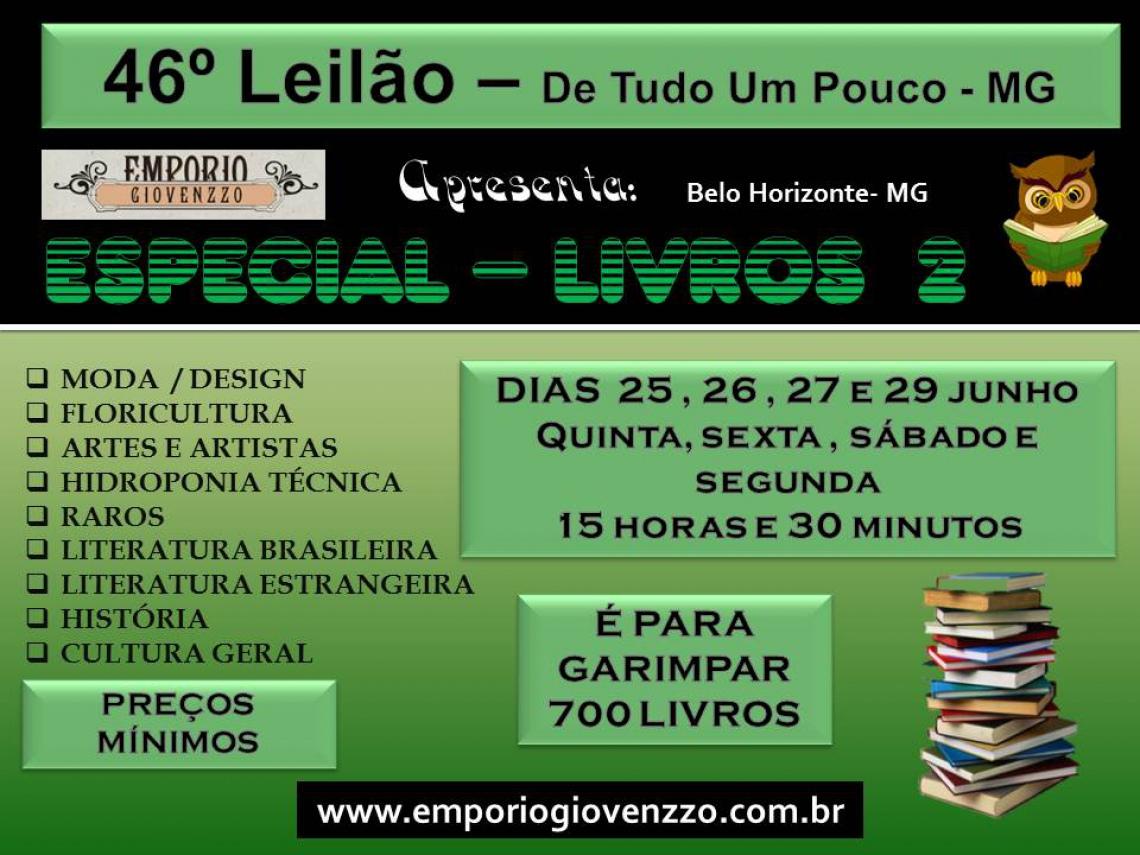 45º LEILÃO DE TUDO UM POUCO - MG -  ANTIGUIDADES , ARTES E MÓVEIS ...