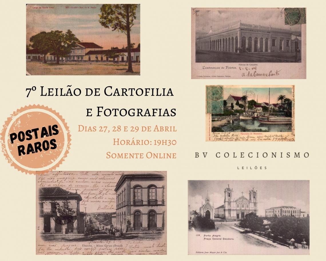 6º Leilão de Cartofilia, Colecionismo e Miniaturas