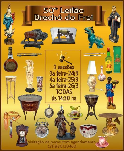 50º LEILÃO BRECHÓ DO FREI DE ARTE E ANTIGUIDADES