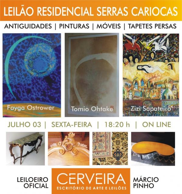 LEILÃO SERRAS CARIOCAS - 14542 - ANTIGUIDADES | PINTURAS | MÓVEIS | TAPETES PERSAS