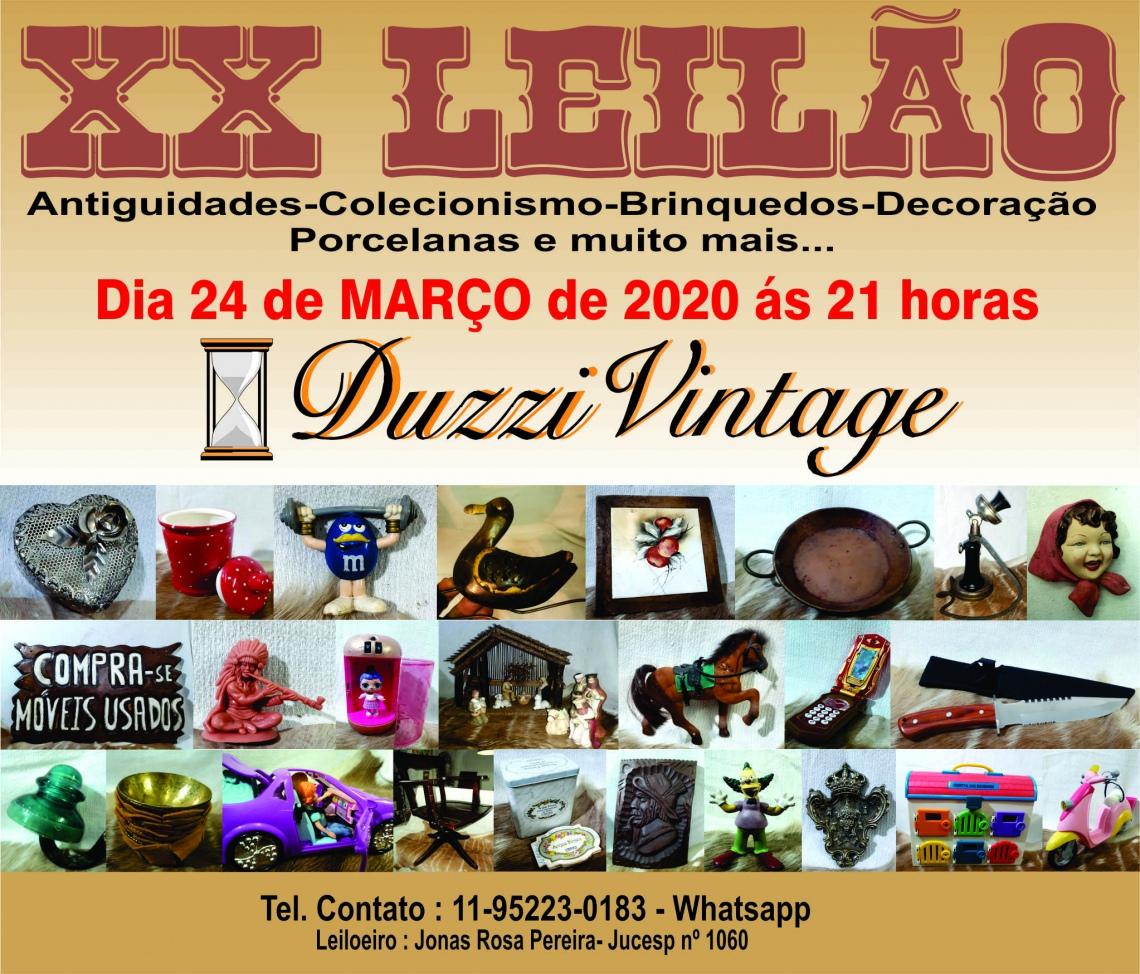 XX LEILÃO DUZZIVINTAGE-Antiguidades-Colecionismo-Brinquedos e muito mais...