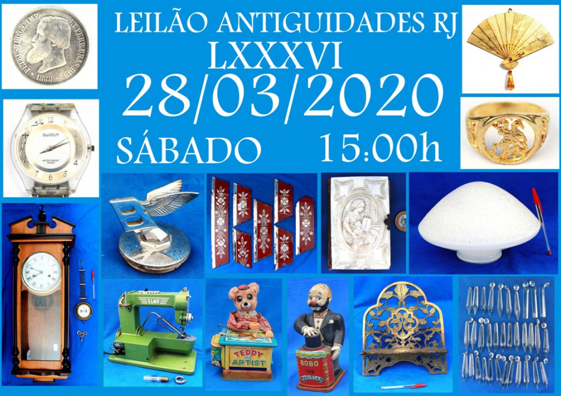 LEILÃO ANTIGUIDADES RJ LXXXVI
