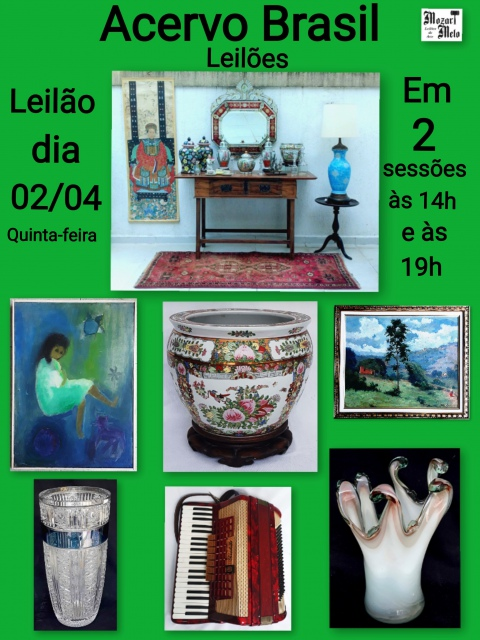 LEILÃO ACERVO BRASIL- ABRIL/2020