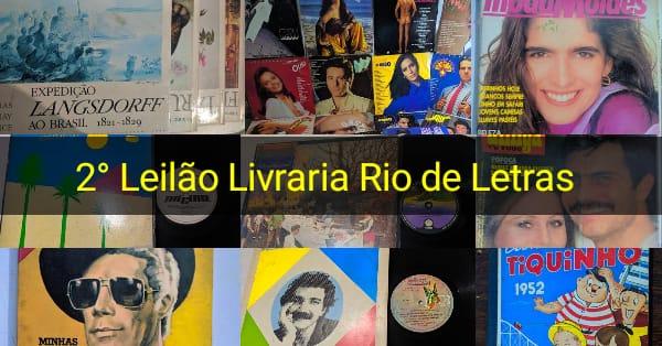 Segundo leilão Livraria Rio de Letras
