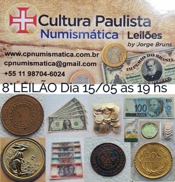 7º LEILÃO CULTURA PAULISTA DE NUMISMÁTICA E COLECIONISMO