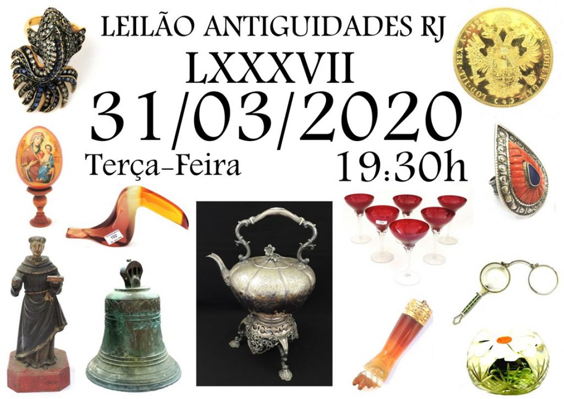 LEILÃO ANTIGUIDADES RJ LXXXVII