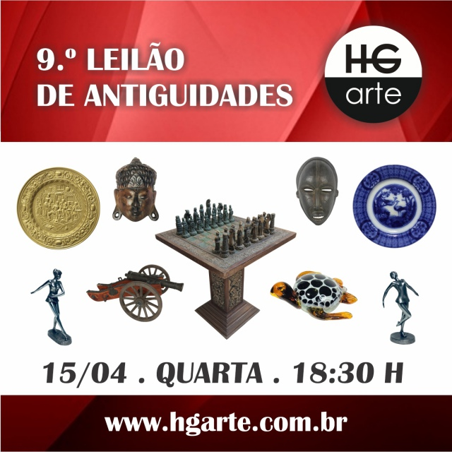 HG ARTE - 9.º LEILÃO DE ARTE E ANTIGUIDADES
