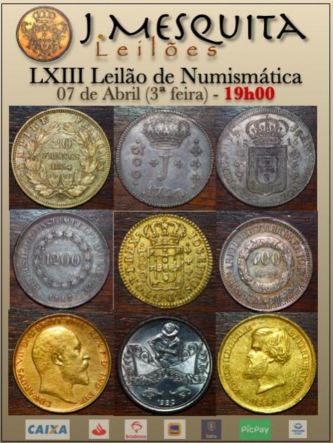 LXIII Leilão J.Mesquita - Especial de Numismática