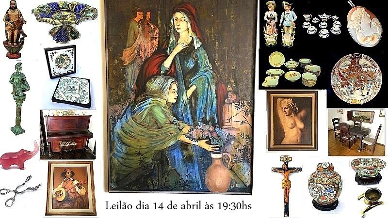 LEILÃO DE PEÇAS RESIDENCIAS DE ARTE, COLECIONISMO,ANTIGUIDADES, JOIAS E DECORAÇÃO