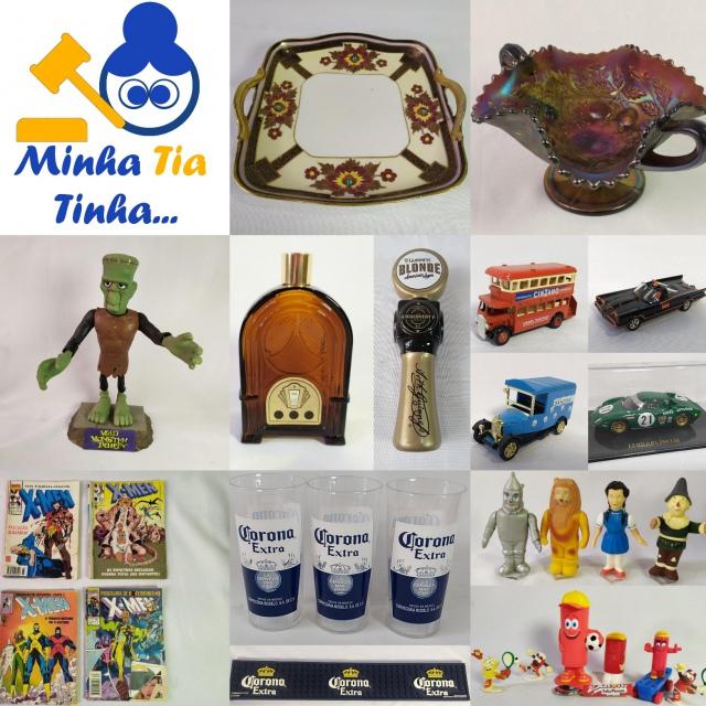LEILÃO MINHA TIA TINHA: COLECIONISMO, MINIATURAS, PORCELANAS, PROMOCIONAIS