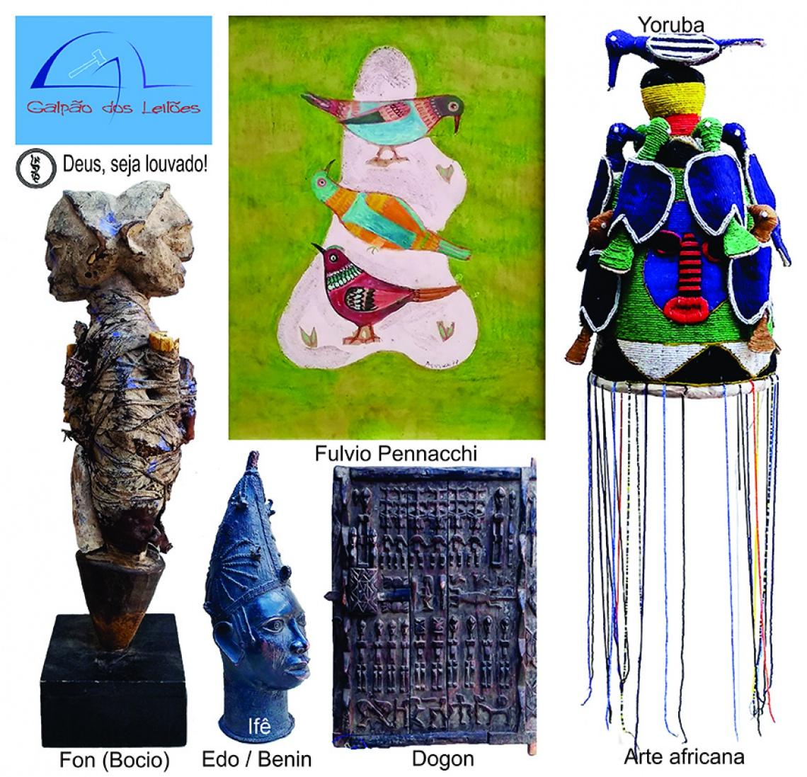 LEILÃO DE ARTE, CURIOSIDADES e DECORAÇÃO (destaque p/ Colecionismo e Tribal Africana) - 18 e 20/4/20