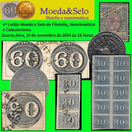 4º Leilão Moeda & Selo de Filatelia e Numismática