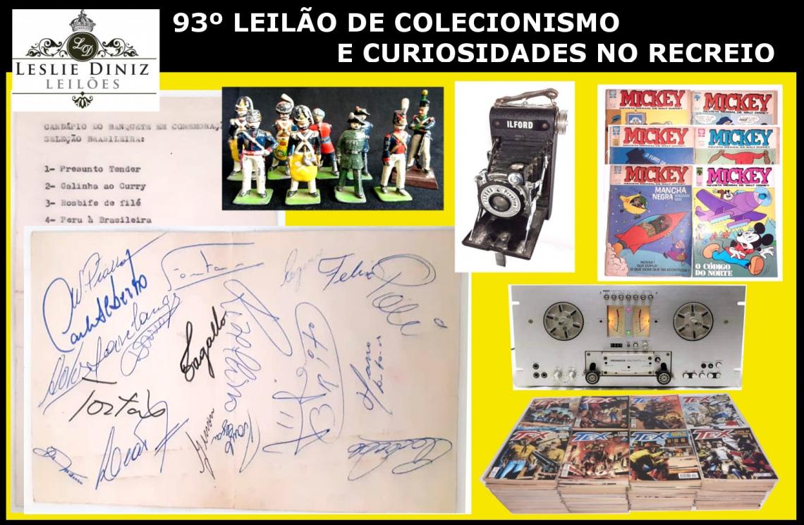 93º LEILÃO DE COLECIONISMO E CURIOSIDADES NO RECREIO