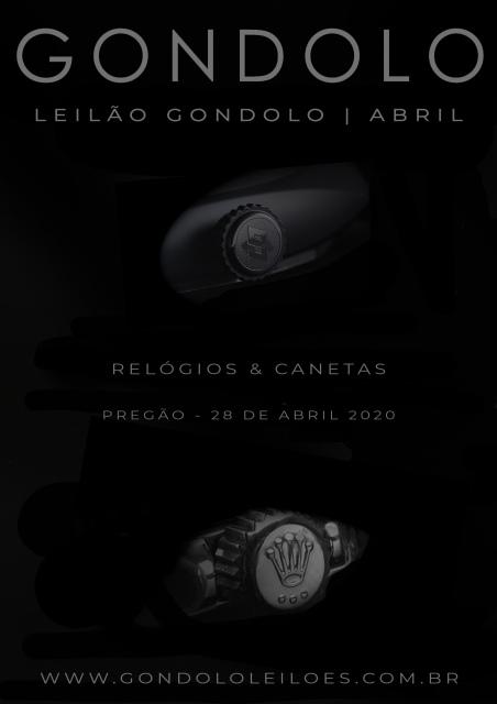 Leilão Gondolo - Relógios - Canetas - Abril 2020