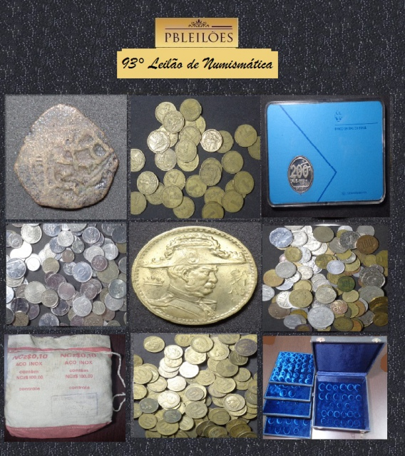 93º Leilão de Numismática Pbleilões
