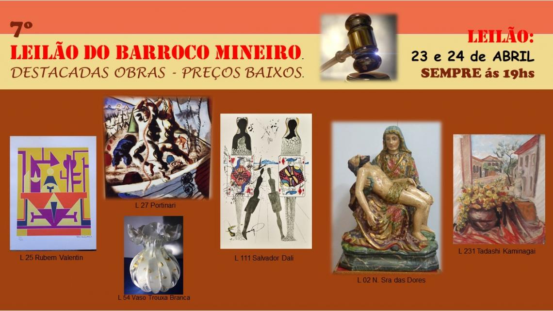 7º LEILÃO DO BARROCO MINEIRO-DESTACADAS OBRAS. PREÇOS BAIXOS