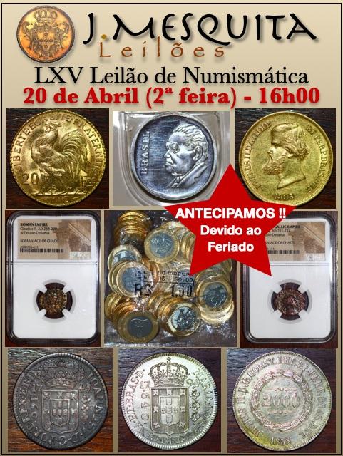 LXV Leilão J.Mesquita - Especial de Numismática