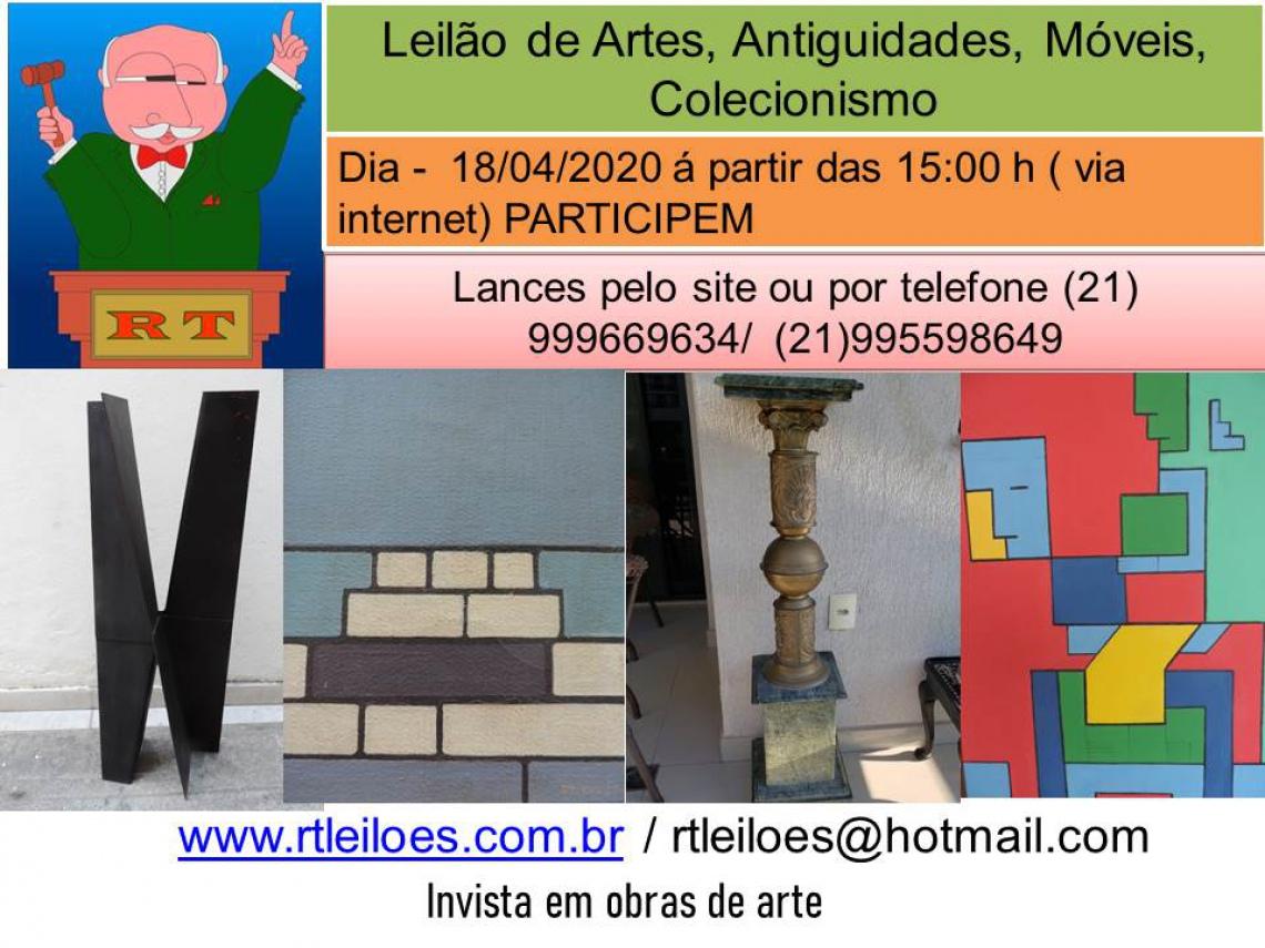 LEILÃO DE ARTE E ANTIGUIDADES  E COLECIONISMO