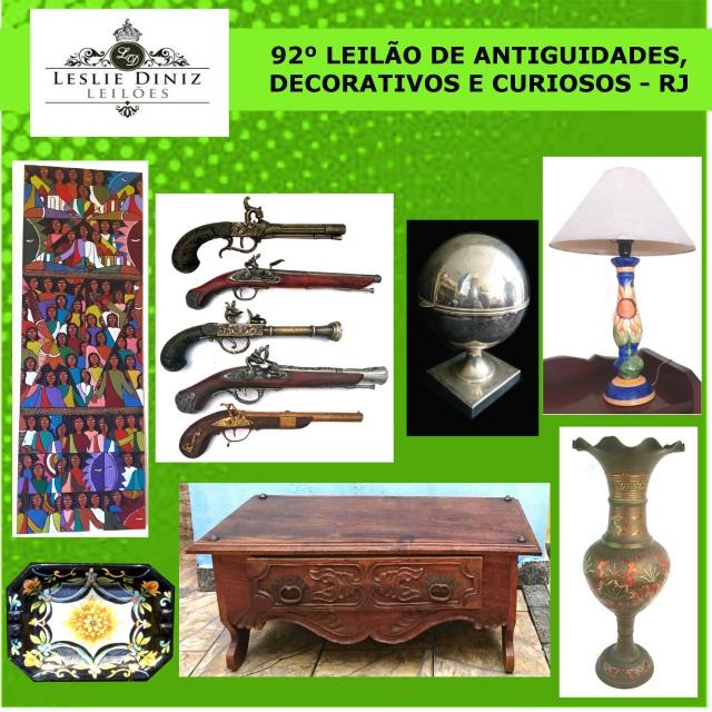 92º LEILÃO DE ANTIGUIDADES, DECORATIVOS E CURIOSOS - RJ