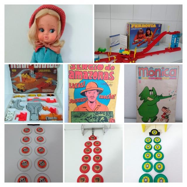 Leilão de Hqs - Brinquedos Antigos - Álbuns de Figurinhas - Chaveiros e Itens de Coleção!
