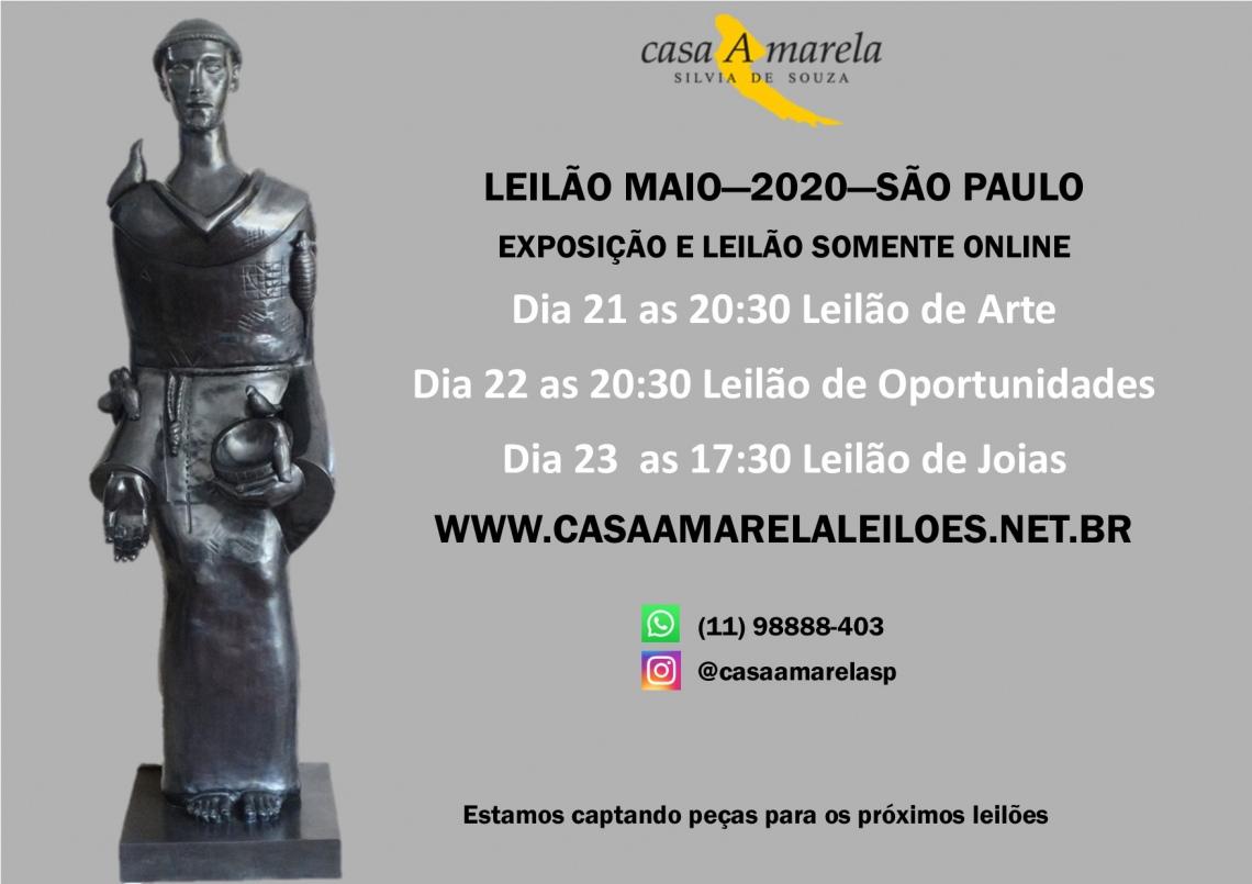 LEILÃO DE ARTE, OPORTUNIDADES E JOIAS