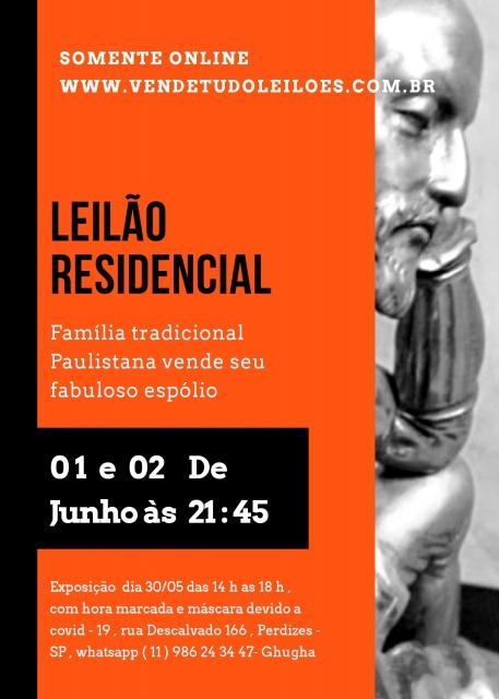 LEILÃO RESIDENCIAL , FAMÍLIA TRADICIONAL PAULISTANA