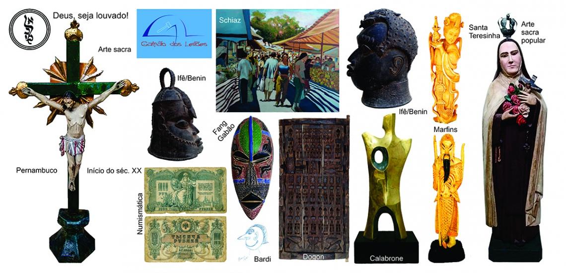 LEILÃO DE ARTE, DECORAÇÃO e COLECIONISMO (destaque p/ Arte Sacra / Tribal Africana e Numismática). 2