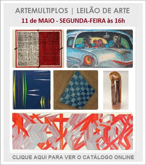 LEILÃO DE ARTE - 11 de MAIO, segunda-feira,  às 16h