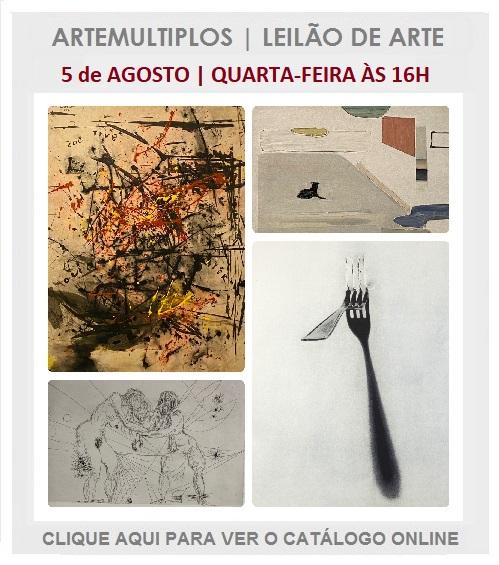 LEILÃO DE ARTE - 05 de AGOSTO de 2020 às 16h