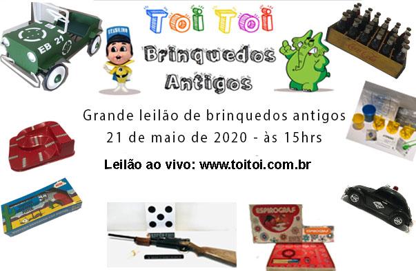 GRANDE LEILÃO DE BRINQUEDOS ANTIGOS