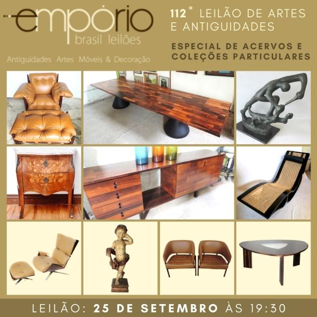 112º Leilão de Artes & Antiguidades -  Especial de Coleções e Acervos Particulares!