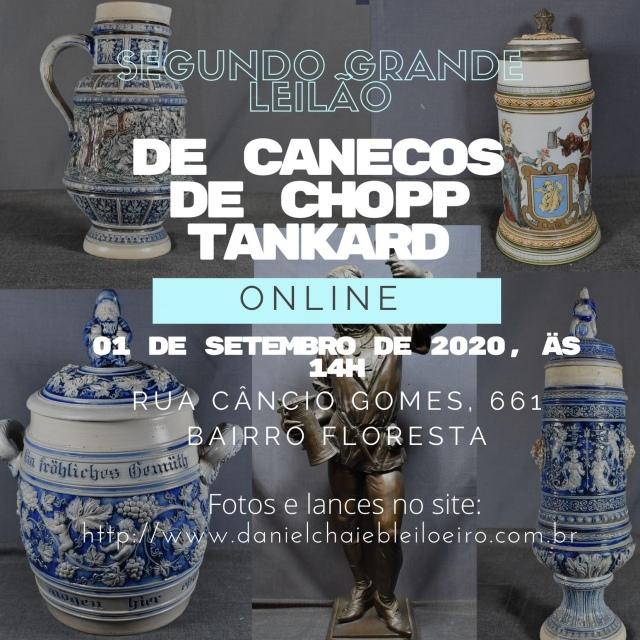 SEGUNDO GRANDE LEILÃO DE CANECOS DE CHOPP TANKARD