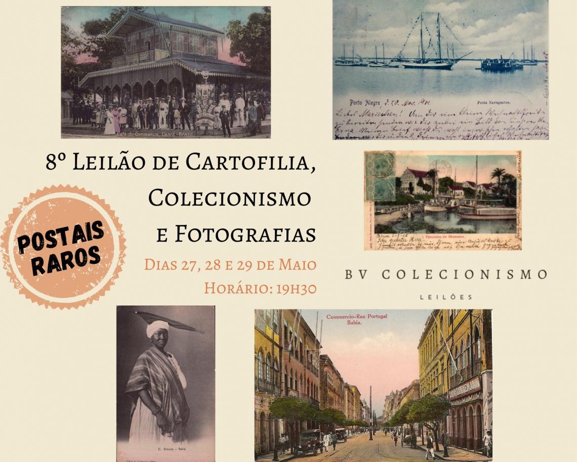 8º Leilão de Cartofilia, Colecionismo e Fotografia