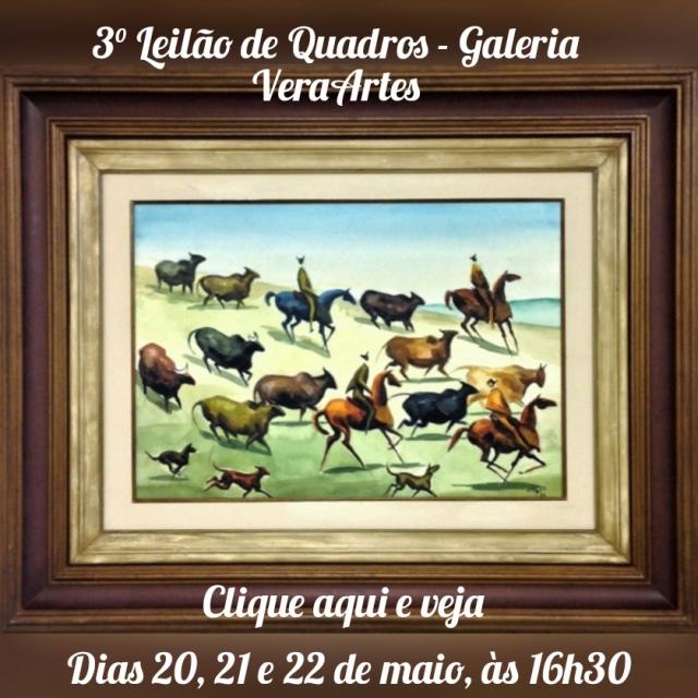 3º Leilão de Quadros - Galeria VeraArtes - 20, 21 e 22 de maio de 2020 - 16h30