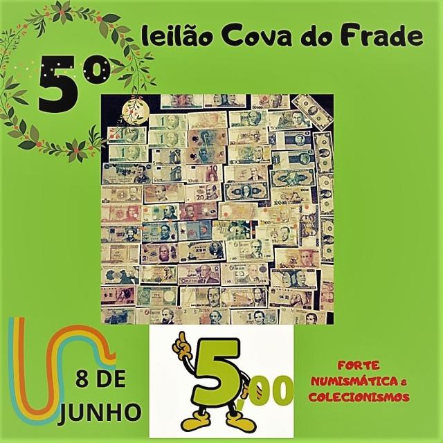 LEILÃO COVA DO FRADE-FORTE NUMISMÁTICA E COLECIONISMO (JUNHO)