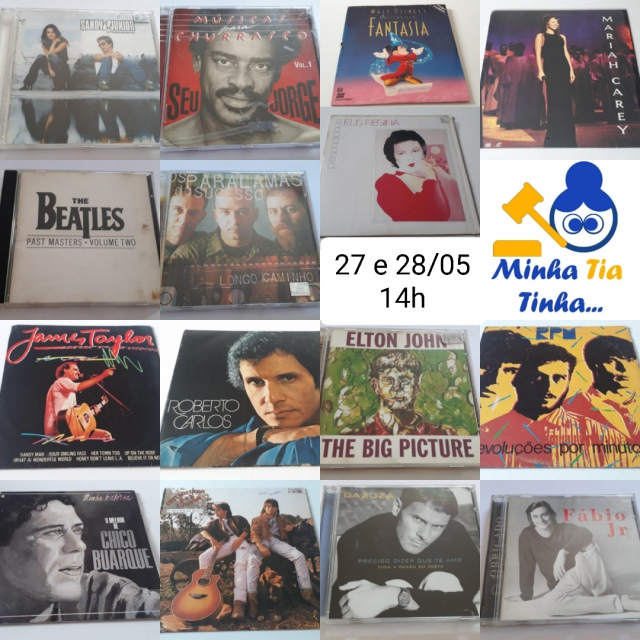 MINHA TIA TINHA: LEILÃO DE MÍDIAS (CD / LASER DISC / LP VINIL / DVD) 95% LANCE LIVRE