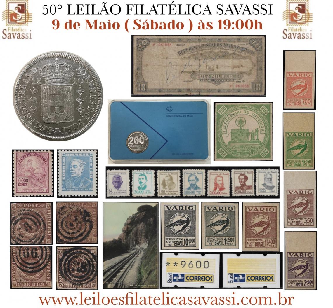 50º LEILÃO FILATÉLICA SAVASSI