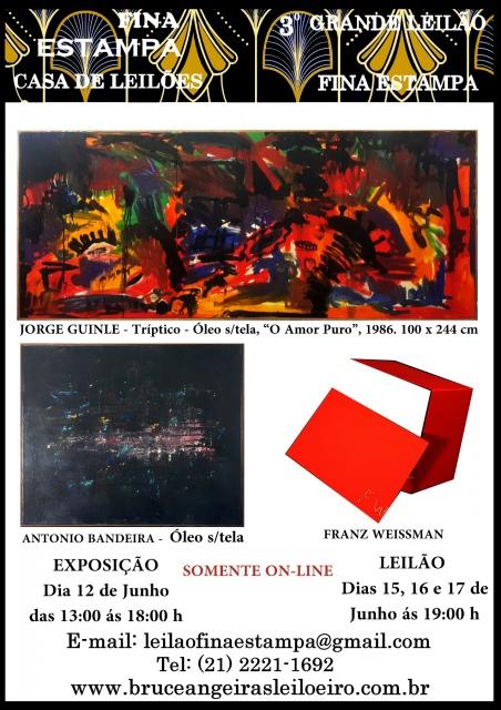 3º LEILÃO FINA ESTAMPA -  TEL PREGÃO (21 2221-1692 - 21 97383-2987)