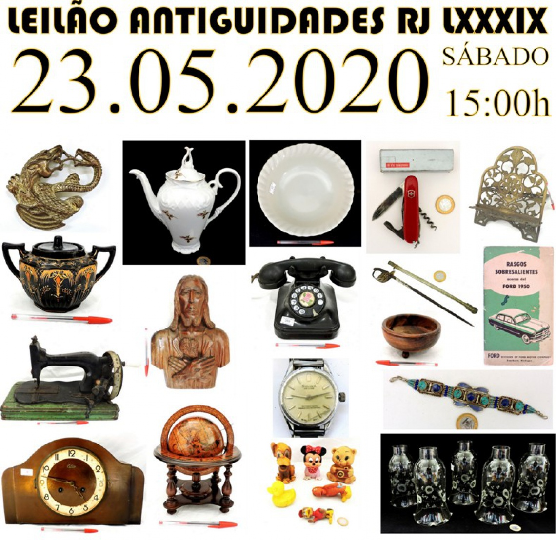 LEILÃO ANTIGUIDADES RJ LXXXIX