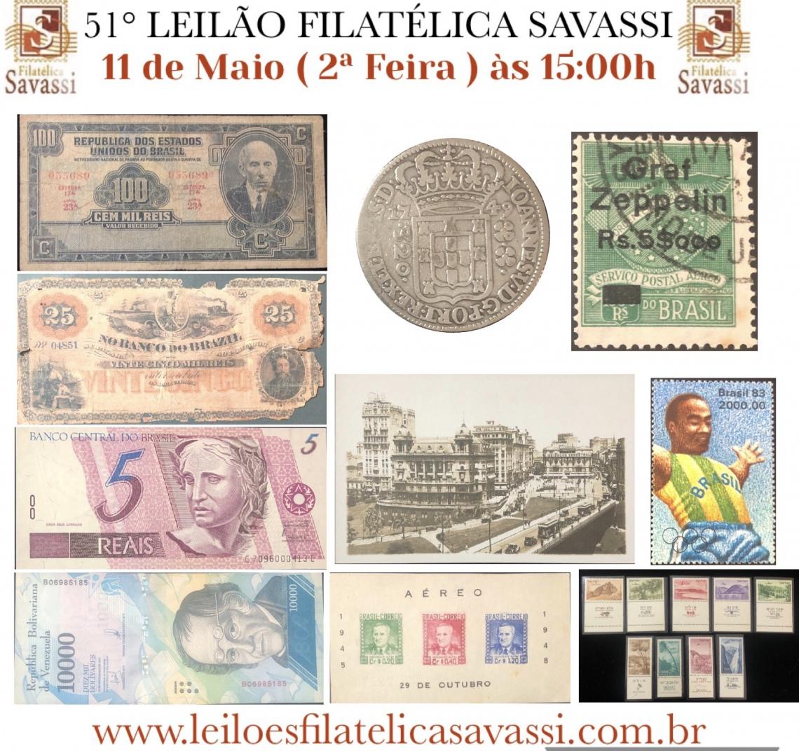51º LEILÃO FILATÉLICA SAVASSI