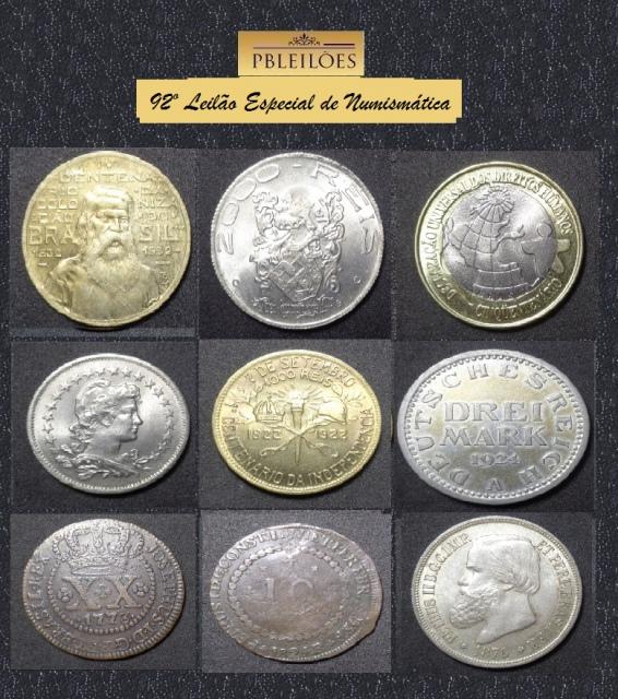 92º Leilão Especial de Numismática Pbleilões