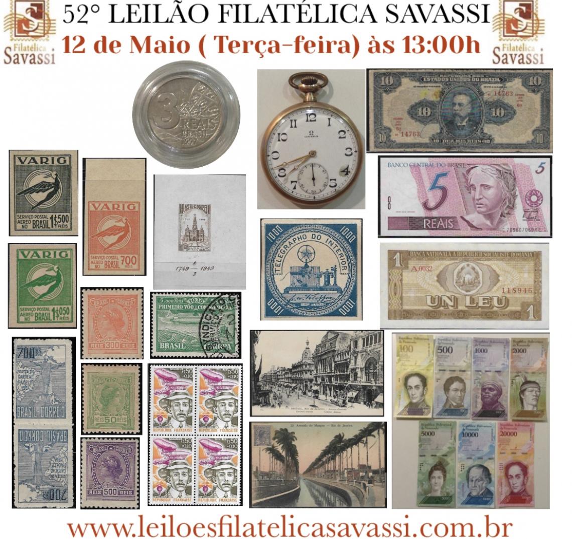 52º LEILÃO FILATÉLICA SAVASSI